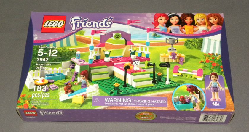 NEW Girls LEGO Friends Set 3942 Heartlake Dog Show w Mia Sealed