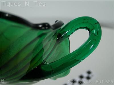Vintage Fenton Green Carnival Glass Stippled Rays Bowl